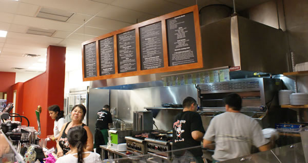 Lucy's Taqueria kitchen